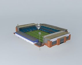 3D model Ewood Park Stadium