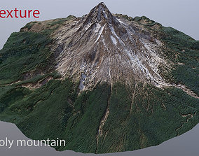low-poly 3d model mountain low-poly