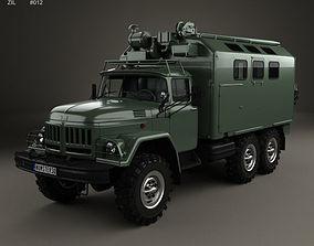 3D model ZiL 131 Box Truck 1966