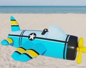 Plane Inflatable Toy 3D asset