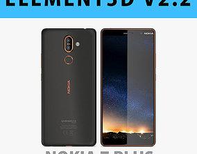 E3D - Nokia 7 Plus Black - Copper model