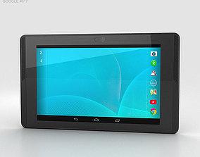Google Project Tango Tablet Black 3D model
