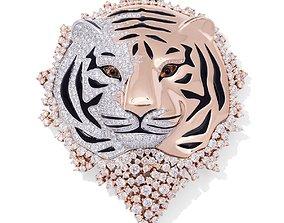 3D model pendant wild life tiger