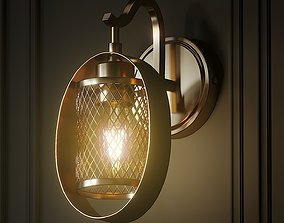 3D Salyers 1-Light Armed Sconce by Wrought Studio