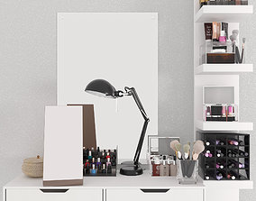 3D Dressing table with cosmetics shampoo