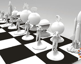 3D printable model The Space Travel Chess Set just print 2
