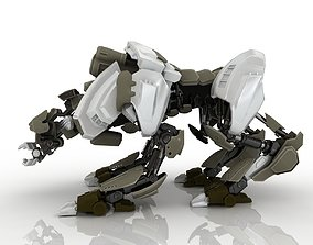3D a large robot with four legs