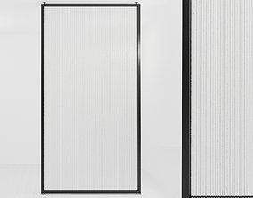 Glass partition door 488 3D model