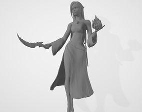 Female High Elf Wizard 3D Model