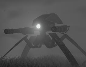 3D model Robot machine-gun
