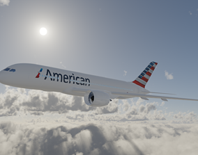 3D model Boeing 787 American Airlines