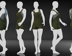 3D Marvelous Designer Clothes - 09 Overall Set