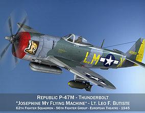 3D model Republic P-47M Thunderbolt - Josephine