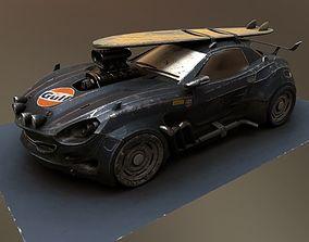 Vulture Scifi Car Concept 3D model