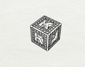 Baby Block Charm - K 3D printable model