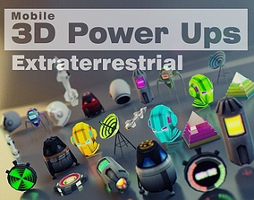 3D model animated Extraterrestrial Pack