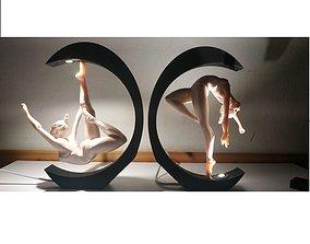 3D printable model BEDSIDE LAMP - DANCE IN THE LIGHT