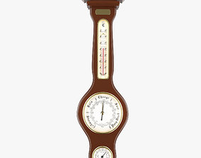 Weather meter including barometer thermometer and 3D model