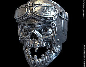 3D printable model biker helmet skull vol1 ring jewelry
