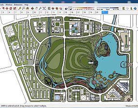 Sketchup Tourist Recreation Complex B3 3D