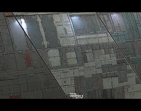 3D Scifi Wall Panel Texture Set B