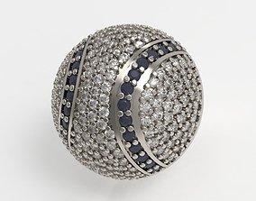 3D print model Diamonds Baseball Pendant