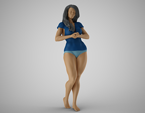 3D printable model Woman Standing Chat 3