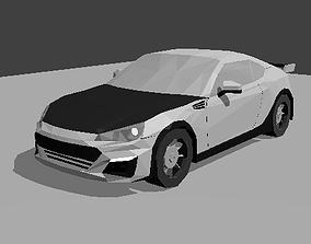 Subaru BRZ GT Low Poly 3D model