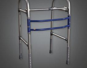 HPL - Medical Walker Metal PBR Game Ready 3D model