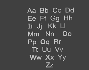 Basic Alphabet of all 26 letters 3D