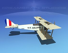 Curtiss JN-2 Jenny V07 US Air Mail 3D model