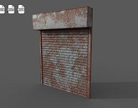 3D asset Metal industrial door