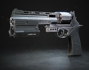 3D asset VR / AR ready Automatic revolver
