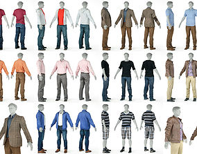 3D 10 Casual Male Outfits V4