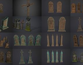 Gravestones COLLECTION 3D model