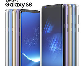 Samsung Galaxy S8 and S8 PLUS COLLECTION 3D model