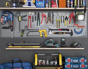 garage tools set 5 3D model
