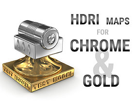 HDRI maps for chrome and gold metal surfaces 3D