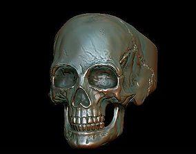 3D print model casting skull ring