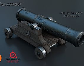 3D Medieval Cannon PBR