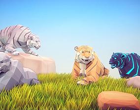 3D asset Poly Art Tiger