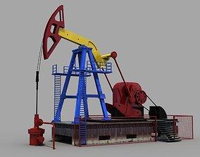 Oil derrick 3D model
