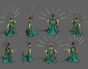 3D model A disciple of the sword school Swordsman