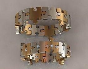 Puzzle set ring brillant 3D printable model