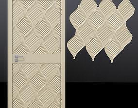 Door 4 and decorative panel 3D