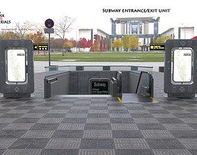 Metro Subway entrance exit unit 3D model