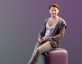 3D asset Kenneth 10161 - Sitting Casual Guy
