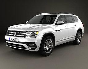 Volkswagen Atlas R-Line 2017 3D