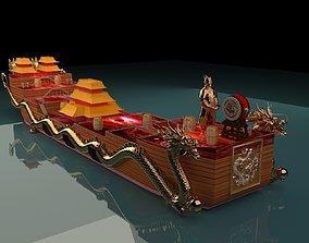 3D chinese junk ship warship oldship pirates fleet