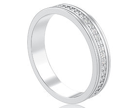 3D Channel ring with diamonds